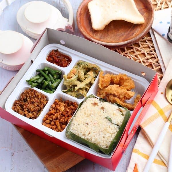 Nasi Box Jakarta Paket Ayam Sandstorm